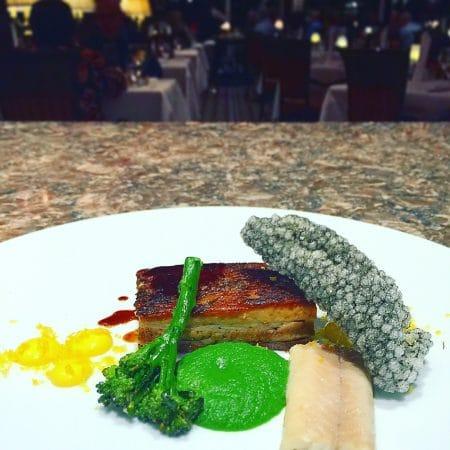 Pork - Pork Belly, Eel, Broccoli, Egg Yolk, Squid Ink, Tapioca