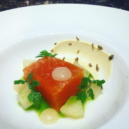 Cured - Salmon Jasmine Cured Organic Salmon, Pear, Liquorice, Chervil